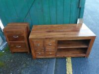 Tv cabinet and chest of drawers £70 for the pair