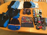 Boys ski bundle clothes, age 9-10 years, full set for ski holiday, immaculate quality, 21 items