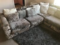 Crushed Velvet Corner Sofa