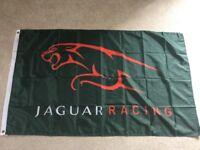 Jaguar racing XKR XJ workshop flag banner