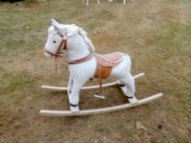 Small Cute Rocking Horse - missing a stirrup and tail
