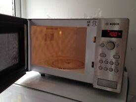 Stainless Steel Bosch Microwave - Spares or repair