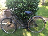 Vintage Raleigh Ladies bicycle, very little used, well matained, in perfect order.