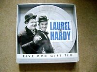 Laurel and Hardy 5 DVD Gift Tin £10