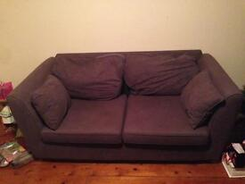 2 seater charcoal couch