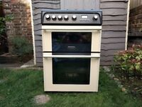 Cannon By Hotpoint CH60GPCF Gas Cooker, 2 Gas Ovens, 4 Burners, Cream