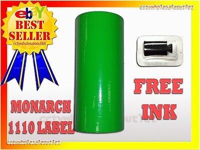 Fluorescent Green Label For Monarch 1110 Pricing Gun 1 Sleeve16rolls