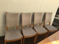 Light beech table & four chairs Glengormley area