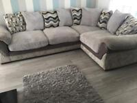 Harvey's grey corner sofa