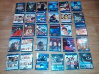 31 x blu rays ( 6 sealed ) brave one , paranormal avtivity 3 looper , taken 2 , blitz , 30 days ,