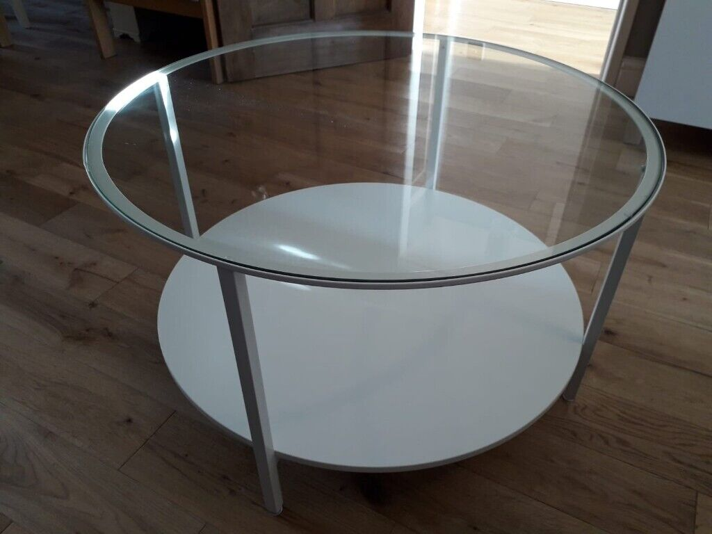 Ikea White And Glass Vittsjo Coffee Table In Shropshire Gumtree