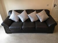 Harvey's Brown Leather suite, 3 Seater and 2 Seater from a Pet Free, Smoke Free Home. Excellent con