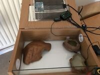 Vivarium, used for a leopard gecko