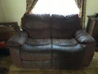 Matching recliner sofas