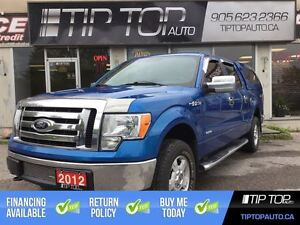 2012 Ford F-150 XLT ** Eco-boost, 4X4, Low Kms, Cap **