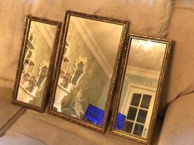 Set of 3 vintage mirrors