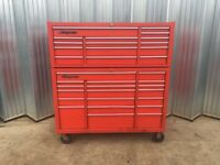 Snap On 53'' roll cab and top box tool box