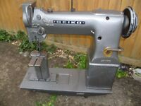 SEIKO PW 27B POST BED TWIN NEEDLE FEED INDUSTRIAL SEWING MACHINE