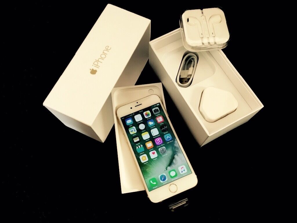 Apple iPhone 6 Gold 128 GB factory unlocked brand new in box with warranty proof of receipt for sale