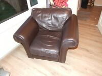 3 piece brown leather suite made in the uk