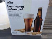 Beer making kit and bottles - as new