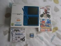 NINTENDO DSI (XL) BLUE. (BOXED) IN EXCELLENT CONDITION. COMES WITH MARIO KART, MARIO AND SONIC GAMES