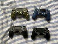 5 PS4 controllers for parts - open to sensible offers.