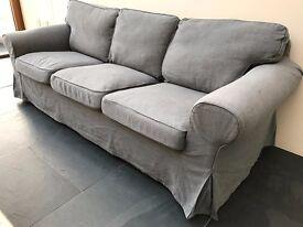 Three seater sofa - Ikea Ektorp, Svanby grey - delivery possible