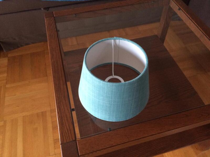 lampenschirm stoff helles t rkis in frankfurt main nordend lampen gebraucht kaufen. Black Bedroom Furniture Sets. Home Design Ideas