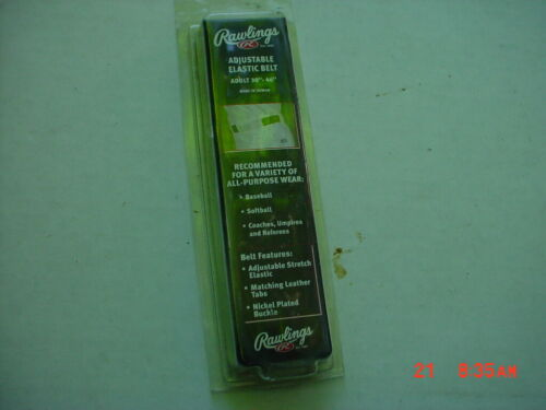 Rawlings  Elastic Adjustable Belt Black  30-46 Inch