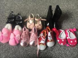 Baby girl shoes up to a size 2 infant.