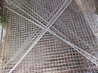 Large mesh panels 172cm x 185cm, £15 each. Ideal for dog run