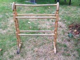 Towel rail/ clothes rail wooden