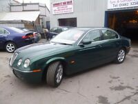 Jaguar S-TYPE SE,twin turbo diesel 4 dr saloon,Sports Auto,FSH,full MOT,full cream leather interior