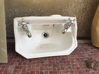 Small Sink Basin with Taps