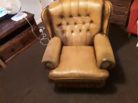 Very good condition leather armchair