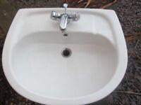 Three Reclaimed Bathroom Basins