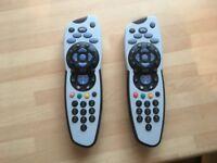 2 x SKY tv remote controls