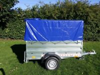 New Trailer (6' x 4' x 2,17) double broadside and cover 80cm