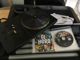 DJ HERO RENEGADE EDITION PS3 LIKE NEW WITH GAME