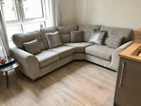 ScS Grey Fabric Nikki Corner Sofa