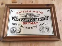 Antique/Vintage Bryant & May's Mirror