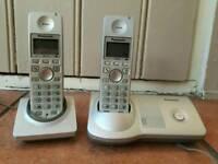 Panasonic Twin Cordless Phones Rechargeable