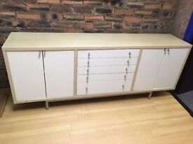 Storage cabinet side drawer