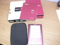 Sony E reader and case