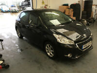 PEUGEOT 208 ACTIVE HDI DIESEL 5 DOOR BLACK 2012