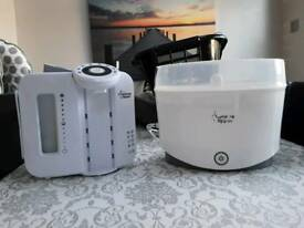 Tommee tippee perfect prep and steriliser white
