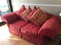 2 red terracotta sofas! 3 seater and 2 seater! Good clean condition