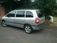 Zafira 7 seater, long mot, 1.6 p