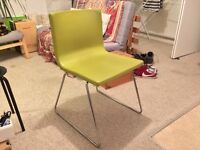 Ikea Bernhard dining/office chair. Chrome & coloured leather